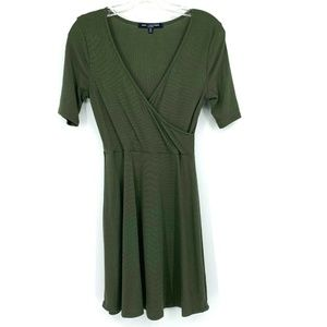 3/20 One Clothing Olive Ribbed Jersey Dress